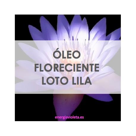 FLORECIENTE LOTO LILA - ÓLEO