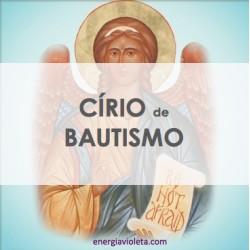 CÍRIO ALQUÍMICO DE BAUTISMO 55cm - ÁNGEL DE LA GUARDA