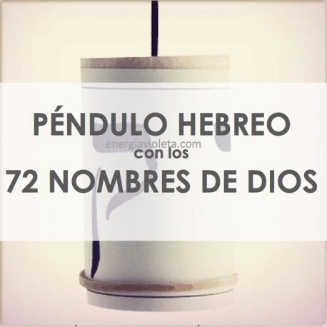 Péndulo Hebreo con los 72 Nombres de Dios